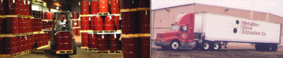 Shipping Freight by Metaltec Steel Abrasive Co.
