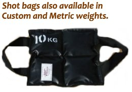 Custom sizes and metric weights shot bags from Metaltec Steel Abrasive Co.