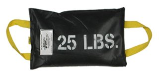 25 LB. stock size shot bags from Metaltec Steel Abrasive Co.